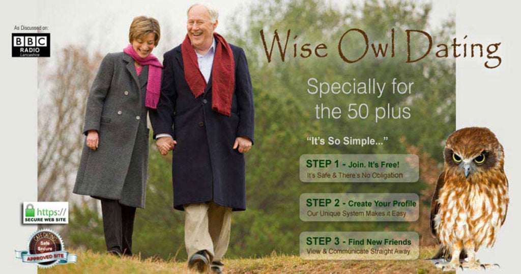 Over Fifties Dating from Wise Owl Dating is as easy as one two three